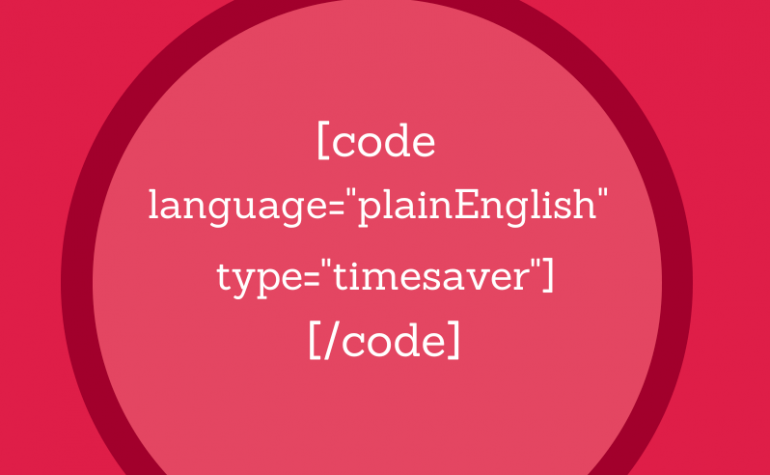 Saving time by coding consistently