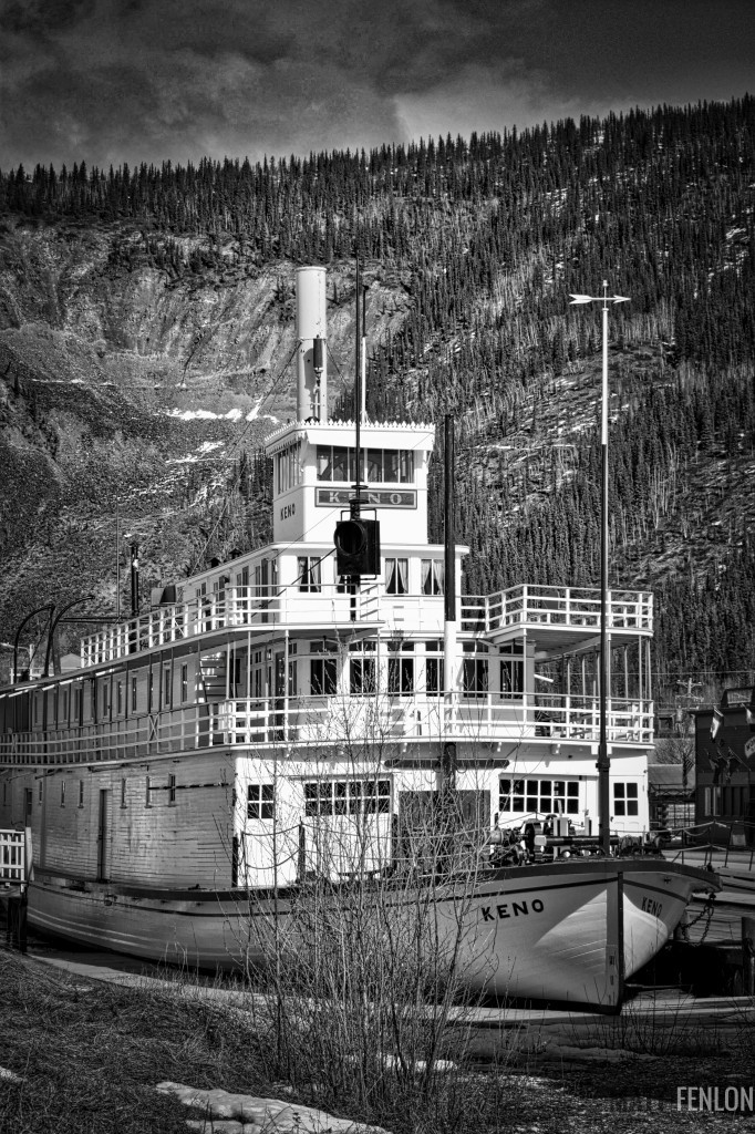 The SS Keno originally transported metal ore for processing. It's now a historic site, much like the SS Klondike, and was the last sternwheeler to navigate the Yukon (Whitehorse to Dawson) under its own power in 1960.