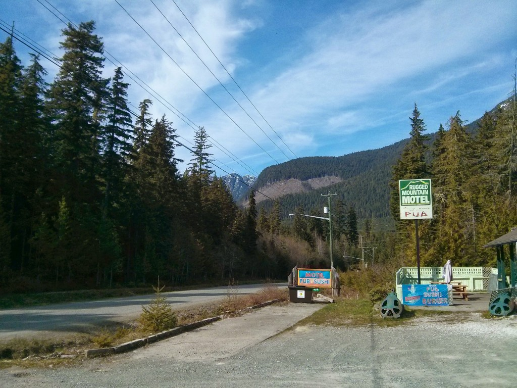 View from the service stop in Woss, BC.