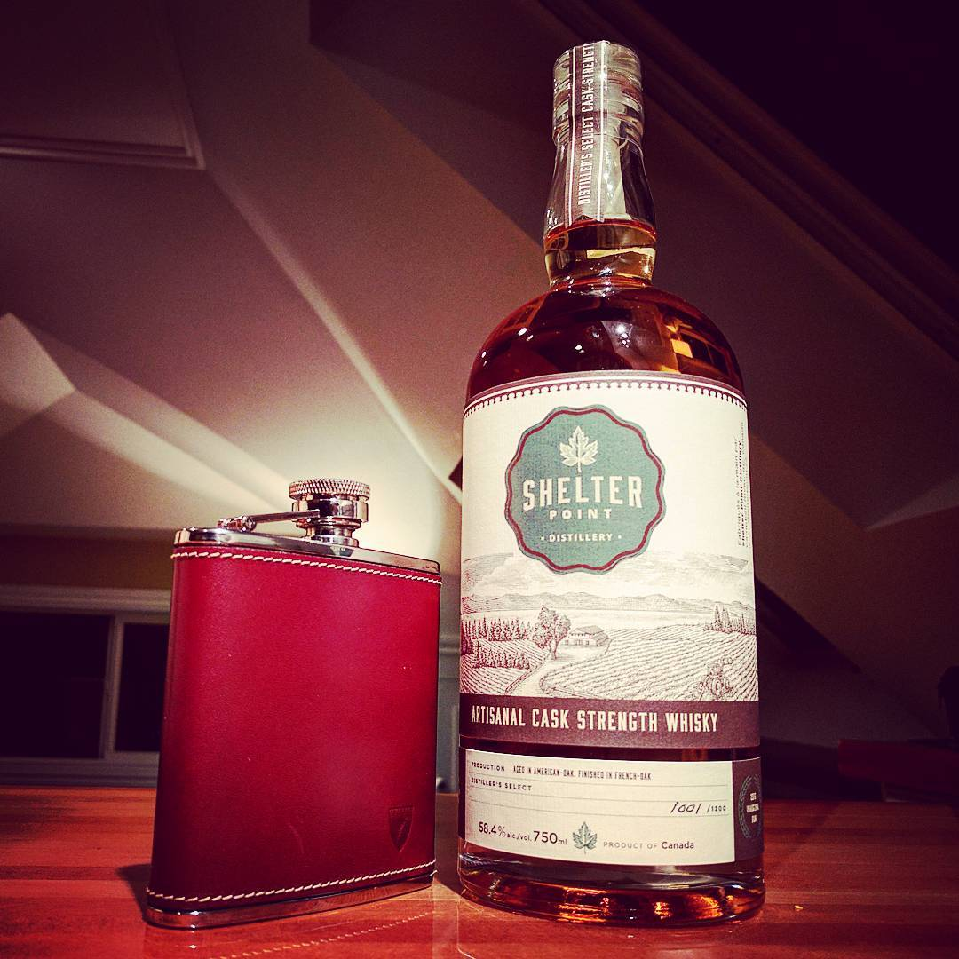 Gone local for the reup ShelterPointWhisky HipFlask AspinalOfLondon whisky