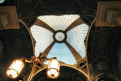 Ceiling of Barcelona central post office.