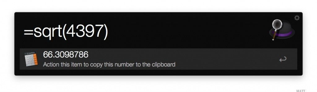 Alfred Calculator for Mac.